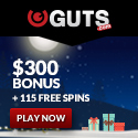 Play Pokies on your Mobile Phone at Guts Casino - Bonus Now Changed to $400.00
