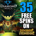 Go to Diamond Reels Casino and Claim 35 Free Spins on Secret Symbol Pokie Game