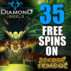 Get 35 Free Spins on Secret Symbol Slot at Diamond Reels Casino